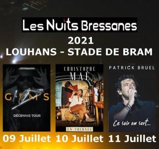 affiche-nuits-bressanes-2021-Louhans-Gims-Christophe Mae-Patrick Bruel-Zazie-Bresse-bourguignonne