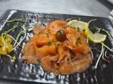 Rosace de saumon mariné à l'aneth