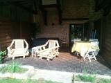 Petit déjeuner, déjeuner, dîner, en été, tout se passe sur la terrasse